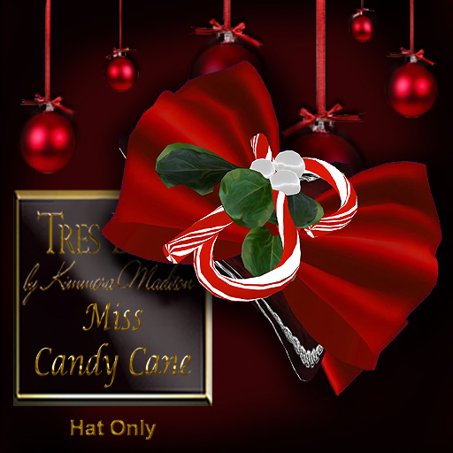 Tres Beau 2012 Holiday Miss Candy Cane Hat
